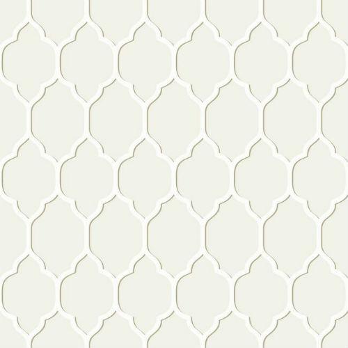 papel de parede casabella ii geométrico bege branco ba4512