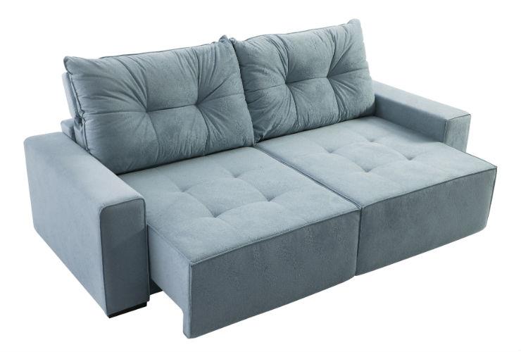 Sof retr til reclin vel mafort 3 lugares veludo cinza for Sofa zeus retratil e reclinavel