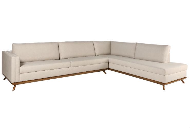 Sof rattorl linho off white canto em l sala de estar for Sala de estar off white