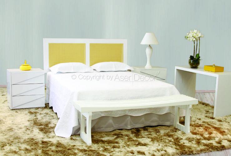 Cabeceira Rinn Palhinha Palha Artesanal Branco Quarto Casal