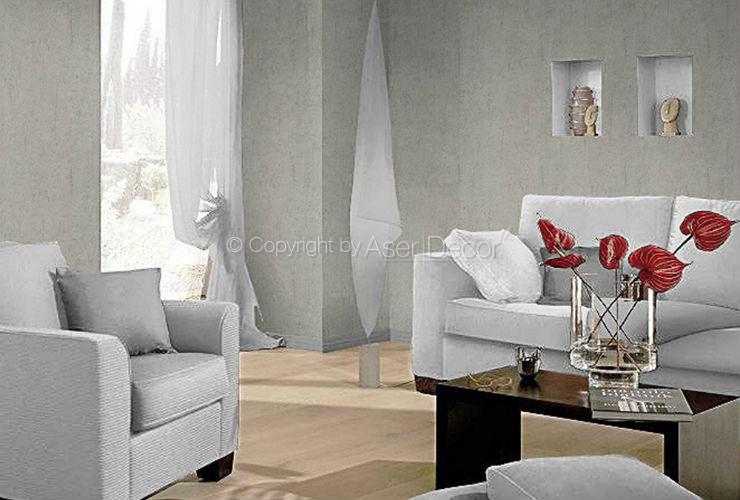 papel de parede factory ii m rmore genu no cinza 446821. Black Bedroom Furniture Sets. Home Design Ideas