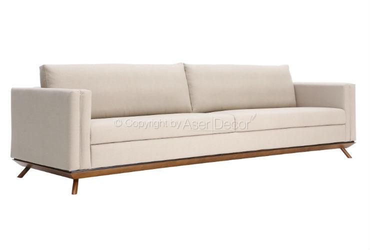 Sof dereiar living 4 lugares fixo linho fendi sala de estar for Sala de estar off white
