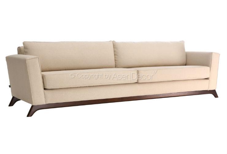 Sof ettedut chaise chaise long linho creme sala de estar for Sala de estar off white