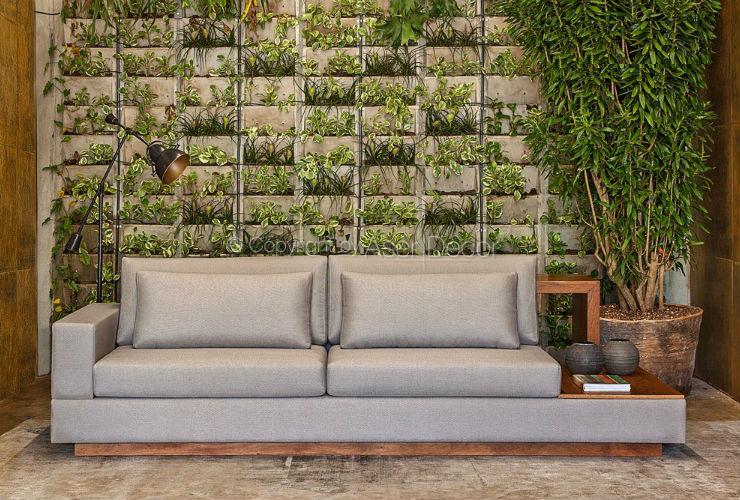 Sof chaise vecerc 3 lugares fixo veludo verde sala de estar for Sala de estar com um sofa