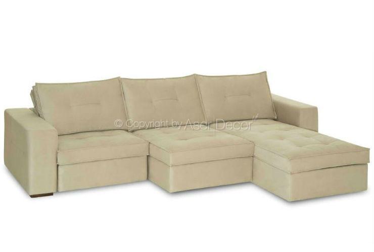 Sof penskher retr til reclin vel suede branco 3 lugares for Sofa oficina