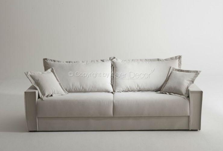 Sof living pillvo 2 lugares fixo sarja off white sala de for Sala de estar off white
