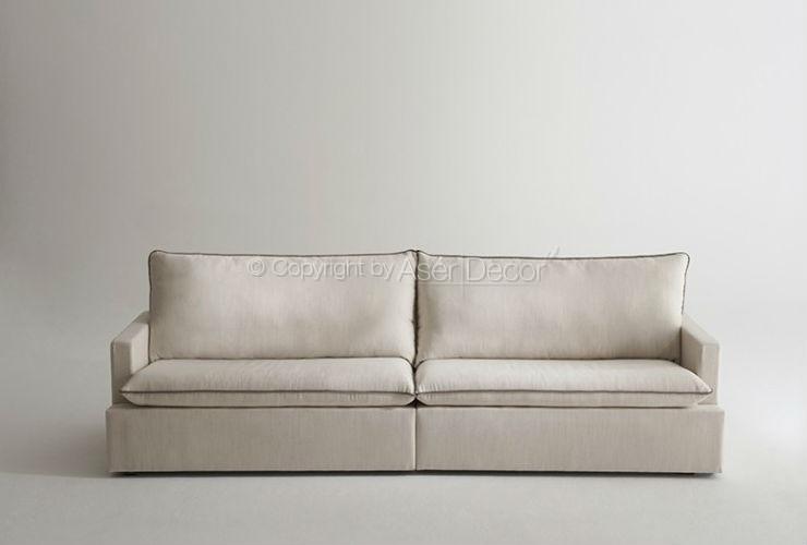 Sof living rami studio casulo linho bege sala de estar for Sala de estar off white