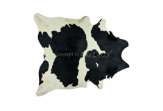 Tapete Bis Pele Natural Branco Preto Vaca Sala Quarto