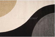 Tapete Abstrato Curflow Cinza Preto Nylon 10mm Sala Quarto