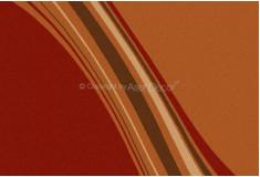 Tapete Abstrato Diaghen Vermelho Laranja Nylon 10mm Sala Quarto
