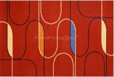 Tapete Abstrato Docvolih Vermelho Azul Nylon 10mm Sala Quarto