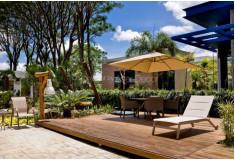Ombrelone AG19 Sunwing Quadrado 2,6x2,6m Alumínio Bege Jardim