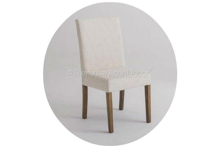 Cadeira Ciasopp Design Madeira Linho Bege Sala Jantar
