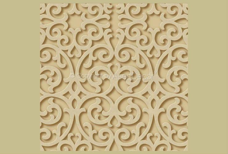 Papel De Parede Dimensional Effects 3D Arabesco Dourado