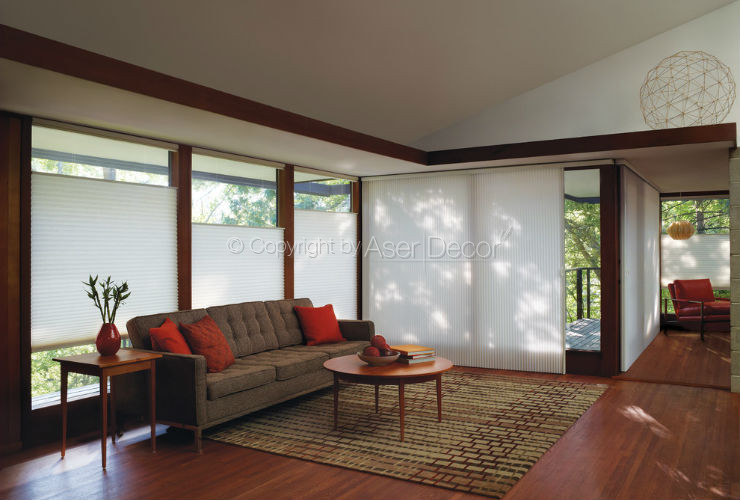 Hunter douglas duette persianas cortinas - Persianas luxaflex ...