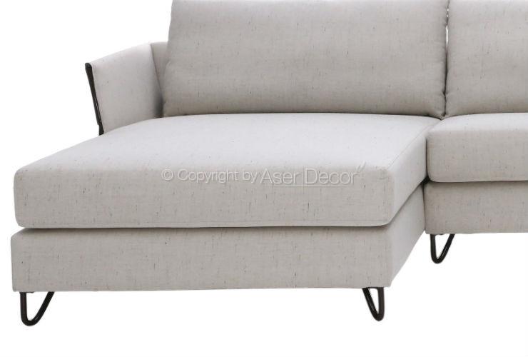 Sof catosllip chaise long linho off white sala de estar for Sala de estar off white