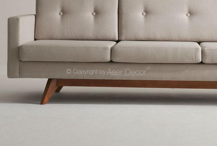 Sof chaise artopti 3 lugares fixo linho fendi sala de estar for Sala de estar fendi
