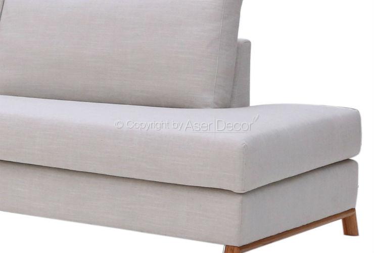 Sof nadduw canto em l linho off white sala de estar for Sala de estar off white