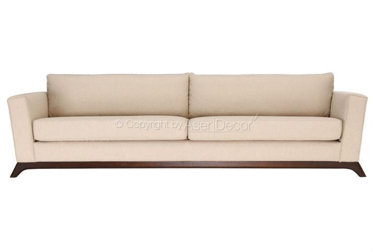 Sof callusc suede off white living fixo sala de estar for Sala de estar off white