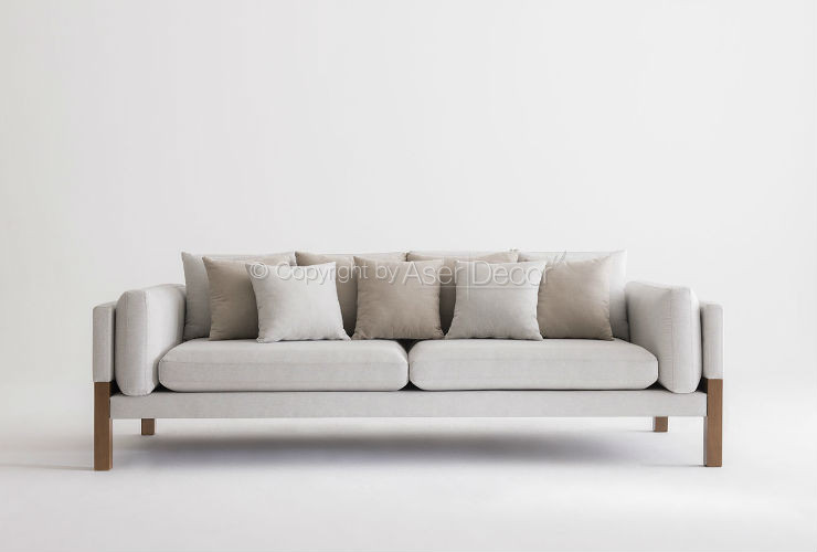 Sof living luppar 3 lugares fixo linho off white sala de for Couch plural