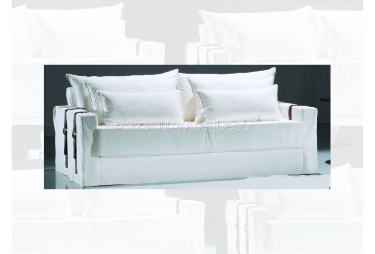 Sof akrebit capa living sarja off white 2 lugares sala de for Sala de estar off white