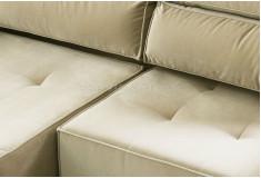 Sofá Retrátil Reclinável Mible 3 Lugares Suede Creme Sala