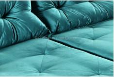 Sofá Retrátil Reclinável Sions 3 Lugares Veludo Brilho Azul Sala