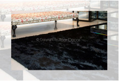 Tapete Besond Luxus Shaggy Luxo 40mm Preto Sala Estar
