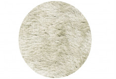 Tapete Nezza Shaggy Fios Mesclados 60mm Branco Sala Estar