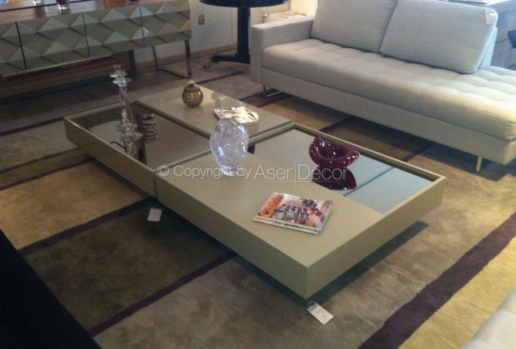 Mesa de centro blynttino design quadrado madeira e laca sala for Mesa de centro de sala