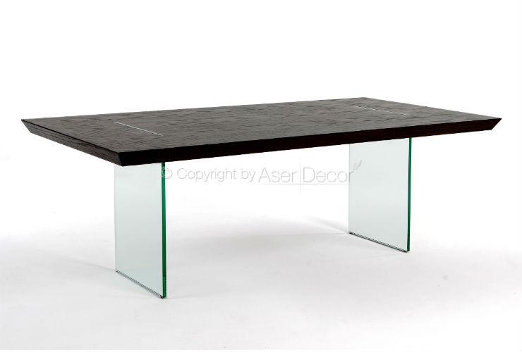 Mesa de Jantar Xessaty Base Vidro Design Luxo 6 Lugares
