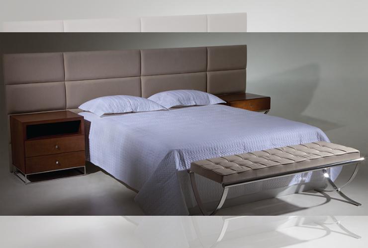 Cabeceira theapo divis es retangulares suede marrom quarto for Deco quarto